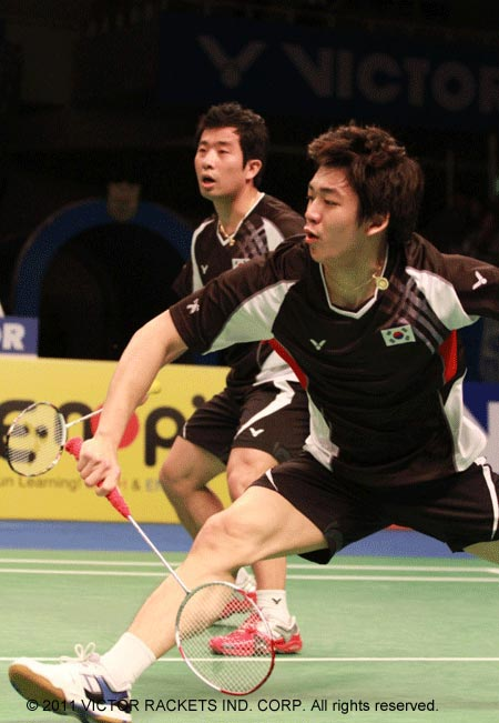 The winning South Korean pair Lee and Jung didn't let down the home crowd