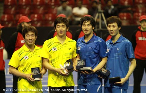 South Korea take first and second place in the men's doubles