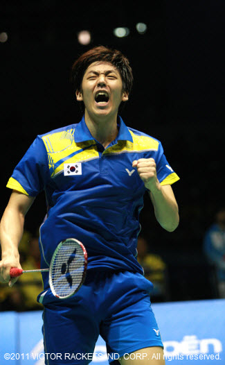 Lee Yong Dae cried out with joy at the moment of victory.