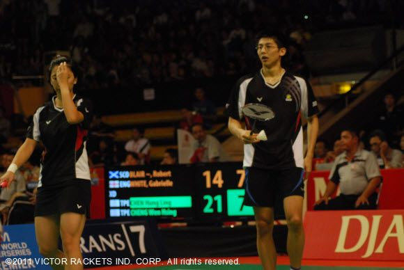 Chen Hung-ling (right)/ Cheng Wen-hsin took second place