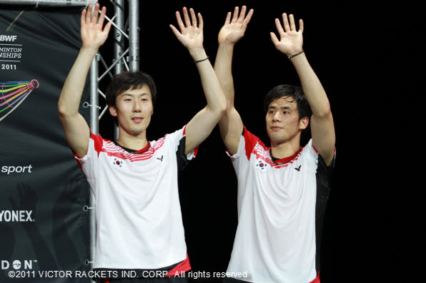 Ko Sung Hyun (right) /Yoo Yeon Seong took silver at the World Badminton Championship, and climbed up the world rankings to fourth.