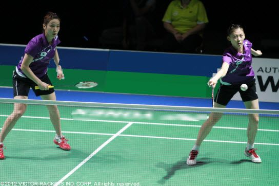 South Korea  In the women's doubles: Jung Kyung Eun / Kim Ha Na