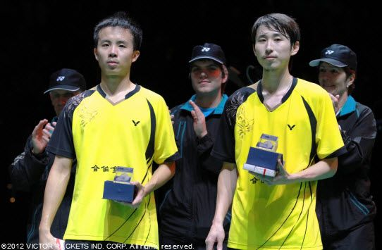 Chinese Taipei's Lee Sheng Mu / Fang Chieh Min took second place in the men's doubles