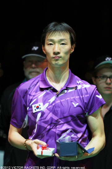 South Korea's Lee Hyun Il took silver in the men's singles